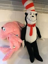 "Kohl's Cares Dr. Seuss The Cat In The Hat Movie Pink 14"" Fish Plush Stuffed Toy"