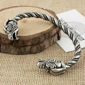 Viking Dragon Bracelet Stainless Steel Arm Ring Mens Jewellery Bangle
