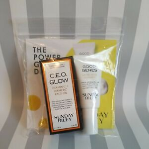NIB Sunday Riley CEO GLOW Vitamin C Turmeric Face Oil & GOOD GENES 5ml ea