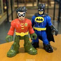 Lot 2 Fisher-Price Imaginext DC Super Friends   Figures Robin & batman blue sduk