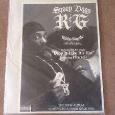 Huge Rare Snoop Dog Rhythm & Gangsta Original Rap Promo Music Poster Memorabilia