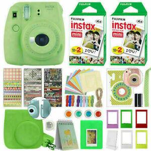 Fujifilm Instax Mini 9 Instant Film Camera Lime Green + 40 Film Deluxe Bundle