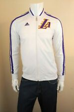 ADIDAS Originals Los Angeles Lakers Action White Full Zip Track Jacket Mens Sz S