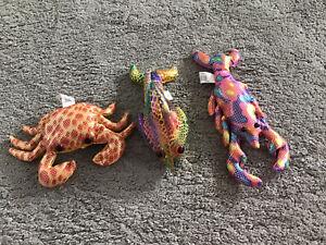 Three Sand Animals Fsh Crab & Lobster