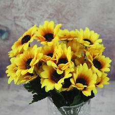 7 Heads Fake Sunflower Artificial Silk Flower Bouquet Home Party Decor