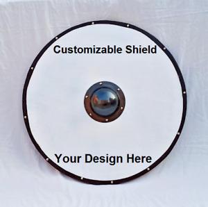 "Customized Viking Shield Wooden shield 30"" Lot of Design Custom Paint job"