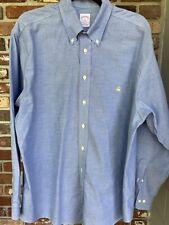 Brooks Brothers Original Polo Shirt Non/Iron Chambray L/S Sz L