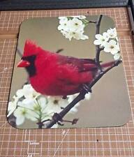 Cardinal Mouse Pad - Cardinal with Flowers