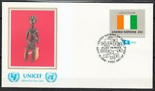 United Nations NY 1988 FDC cover Flag of Cote de Ivoire African art