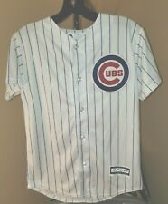 Chicago Cubs MLB Majestic Classic White Kris Bryant #17 Youth Medium Jersey