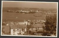 Postcard Falmouth Cornwall houses and ships in harbour RP by Judges Ltd 23318