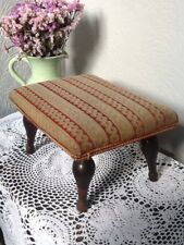 Pretty Antique Victorian Wool Tapestry Foot /Kneeler/Prayer/Fender Stool  #3782