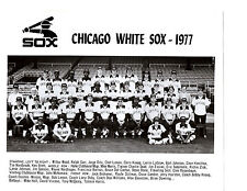 1977 CHICAGO WHITE SOX TEAM  8X10 PHOTO  BRETT DOBY  BASEBALL ILLINOIS
