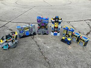 Imaginext DC Comics Superhero Batman Batcaves  HUGE Lot Of 6 Playsets.