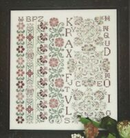 JUST PEACHY--Rosewood Manor--Sampler--ABC's-Flowers-Counted Cross Stitch Pattern