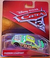 Disney Pixar Cars 3 Darren leadfoot Shiny Wax #82 Mattel Diecast 1:55 Scale 2017