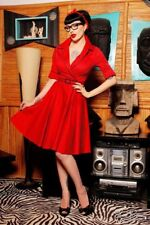NWT Medium Pinup Deadly Dames Haunted Housewife In Red Dress