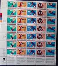 1992 Summer Olympics 29c Stamps FullSheet