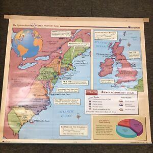 Nystrom US History Map School Classroom Wall Hanger Or Decor Revolutionary War