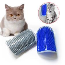 Cat Massage Brush Comb Wall Corner Self Groomer Kitten Durable Scratcher Toy Us
