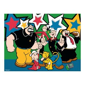 Ceaco Popeye Jigsaw Puzzle 550 Pieces Cartoon Artwork NEW