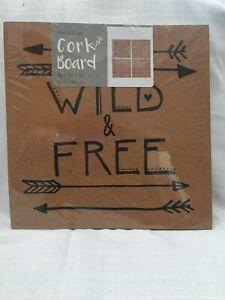 "Quartet Cork Tiles 12"" x 12"" Cork Board Bulletin Board 4 Pack Wild & Free"