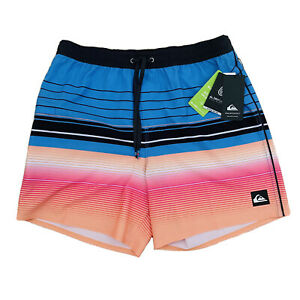 """Quicksilver BNWT Boardshorts Men's Size Large """"Volley Shorts"""" Highline Swell"""