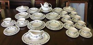 Vintage Royal Doulton Burgandy Tc 1001 Dinner And Tea Service 60 Pieces