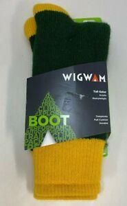 Wigwam Game Day Green & Gold Tailgate Men's Boot Socks XL 12-15 New