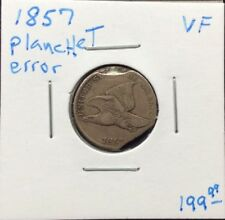 1857 1C Flying Eagle Cent With Clipped/Broken Planchet Errors