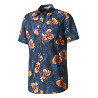 Adidas Originals Camisa Hawaiana Verano Vacaciones Playa Piscina Skate Top Nuevo