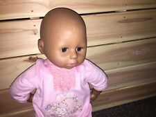 "18"" Black African American Zapf Creations doll with Zapf Sleeper"