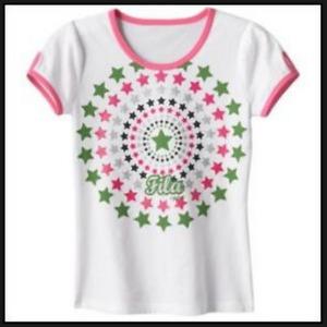 FILA SPORT Girls Tee T-shirt Pink NWT XS 7 S 8 M 10 L 12 XL 14 16 Top Glitter