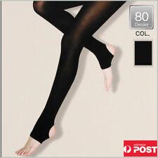 80Denire Ring Type Stockings Black Color Only Bargain-  Made in Korea -Fr Sydney
