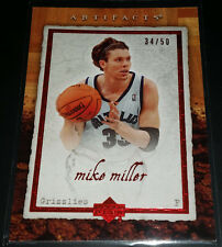 Mike Miller 2007-08 Upper Deck Artifacts RED Parallel Insert Card (#'d 34/50)