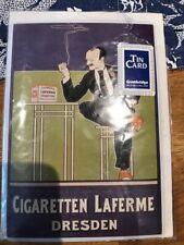 Retro Vintage Tin postcard - Cigaretten Laferme Dresden
