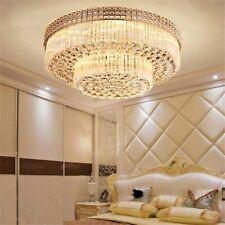 Luxury K9 Crystal Pendant Lamp Remote Led Chandelier Flush Mount Ceiling Fixture