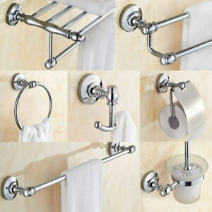 Bathroom Accessories Set Chrome Polished Brass Bath Hardware Set Wall Mounted