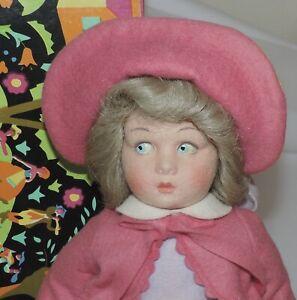"1985 Lenci Felt Doll 14"" MIB ""in Honor of Princess Diana Visit to Italy"""