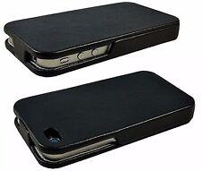 Handy Tasche für Apple 4 4S iPhone Flip Case Cover Schutz Hülle Klapp  Schwarz