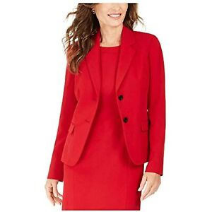 MSRP $99 Kasper Womens Red Suit Wear to Work Jacket Red Size 16 P NWOT