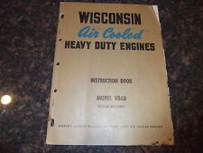 WISCONSIN VR4D ENGINE INSTRUCTION REPAIR SHOP SERVICE MANUAL
