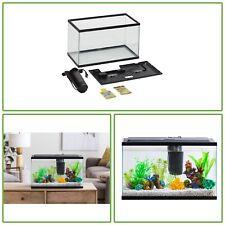 10 Gal Clear Fresh Water Aquarium Starter Kit LED Lighting Fish Tank Filter Set
