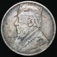 1896 | South Africa 1 Shilling 'Engraved' 'Trench Art' | Silver | KM Coins