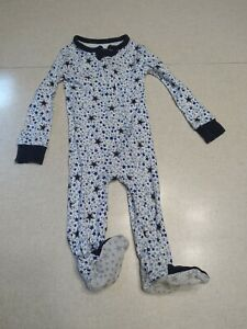 Dallas Cowboys Baby Footed Sleeper 6 Months Cotton White Stars