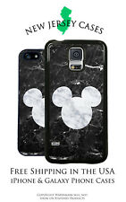 Disney Mickey Mouse Black Marble Apple, Samsung, LG, Google Pixel Phone Case