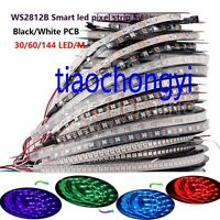 WS2812B 5050 RGB LED Strip 5M 150 300 Leds  Individual Addressable 5V IP60 IP67