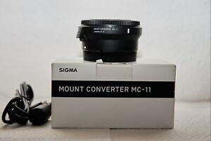 Sigma MC-11 Anschluss-Konverter für Canon EF und Sony E-Mount - Schwarz (89E965)