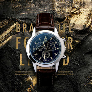 Business Watche Military Casual Analog Quartz Wrist Mens Leather Watches ONE