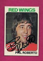 RARE RED WINGS PHIL ROBERTO  AUTOGRAPH CARD (INV# 7777)